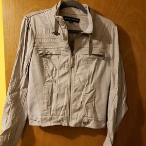 Gray Outerwear Jacket